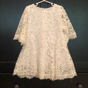 Lace dress, lined